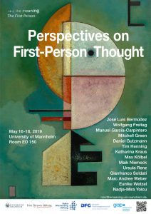 Workshop Perspectives on First-Person Thought